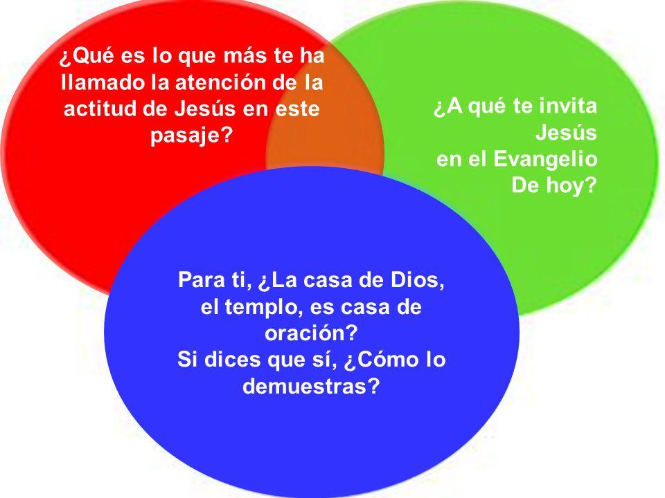 Meditación ¿A qué te invita Jesús en el Evangelio De hoy? ¿Qué es lo que más te ha llamado la atención de la actitud de Jesús en este pasaje? Para ti,