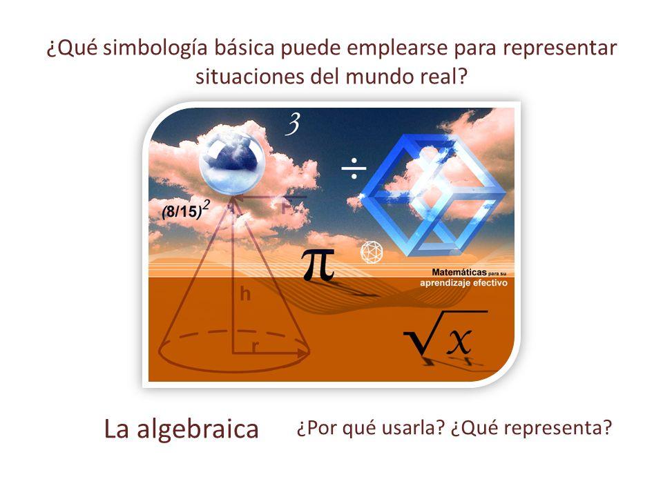 ¿Qué simbología básica puede emplearse para representar situaciones del mundo real.