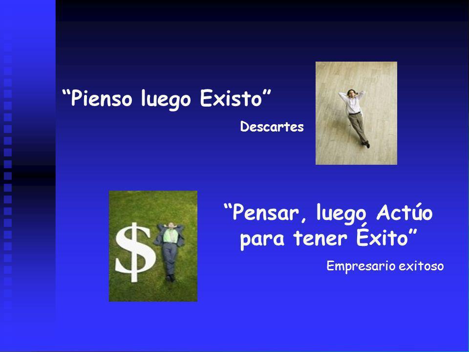 Pienso luego Existo Descartes Pensar, luego Actúo para tener Éxito Empresario exitoso