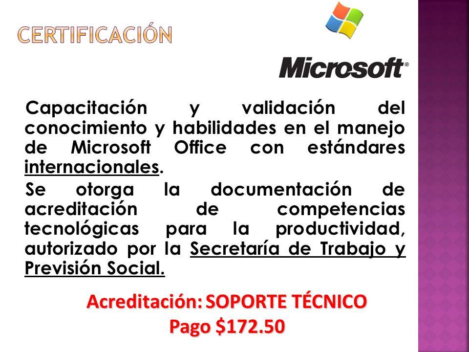 Capacitación y validación del conocimiento y habilidades en el manejo de Microsoft Office con estándares internacionales.