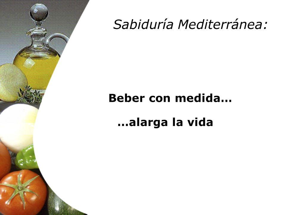Beber con medida… …alarga la vida Sabiduría Mediterránea: