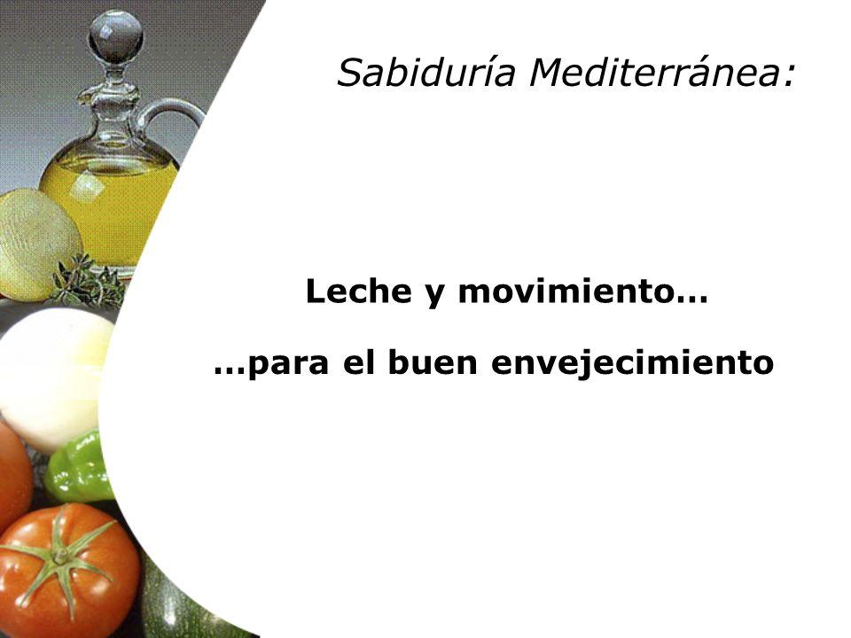 Leche y movimiento… …para el buen envejecimiento Sabiduría Mediterránea: