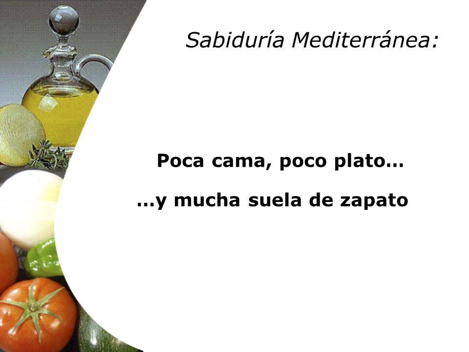 Poca cama, poco plato… …y mucha suela de zapato Sabiduría Mediterránea: