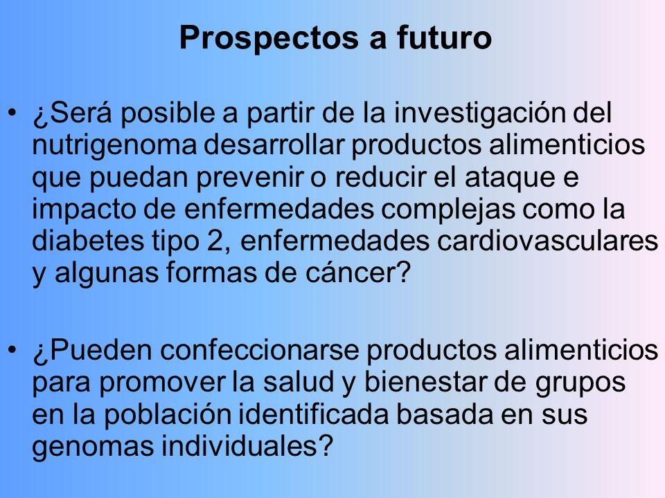 Prospectos a futuro ¿Será posible a partir de la investigación del nutrigenoma desarrollar productos alimenticios que puedan prevenir o reducir el ata