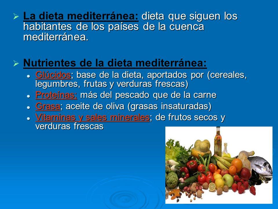 dieta que siguen los habitantes de los países de la cuenca mediterránea. La dieta mediterránea: dieta que siguen los habitantes de los países de la cu