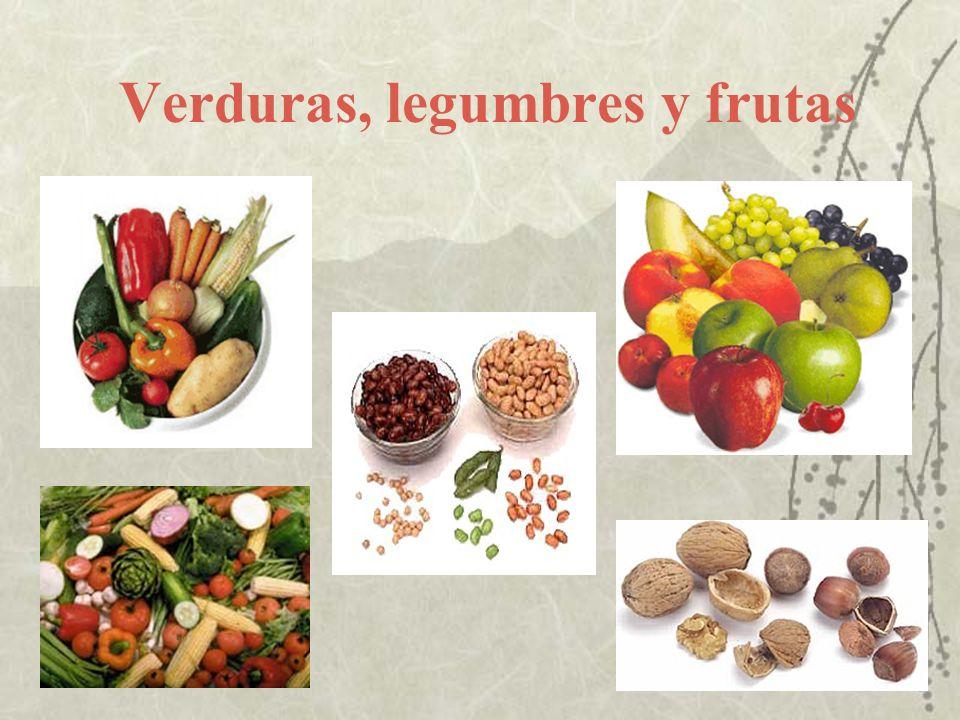 Verduras, legumbres y frutas