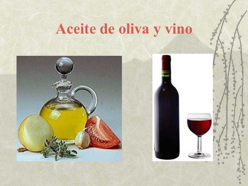 Aceite de oliva y vino