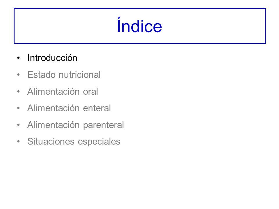 Índice Introducción –Definiciones –Malnutrición proteico-calórica –Caquexia y cáncer –Puntos clave
