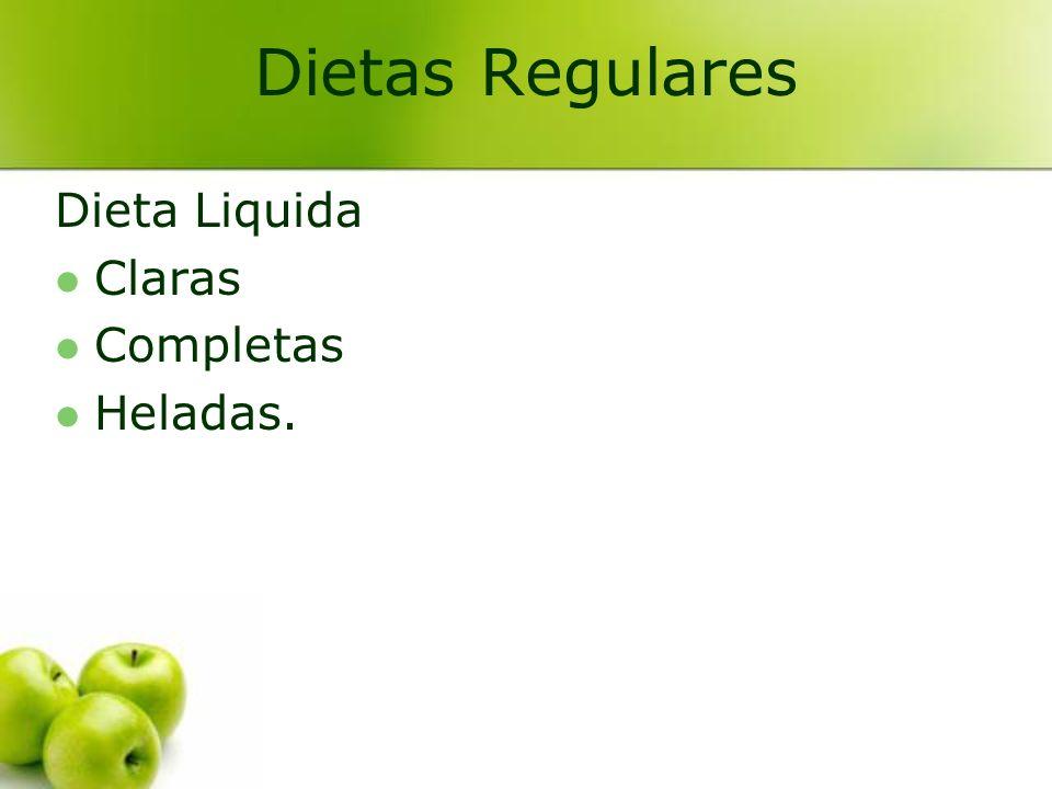 Dietas Regulares Dieta Liquida Claras Completas Heladas.