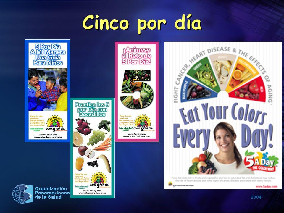 2004 Organización Panamericana de la Salud Cinco por día