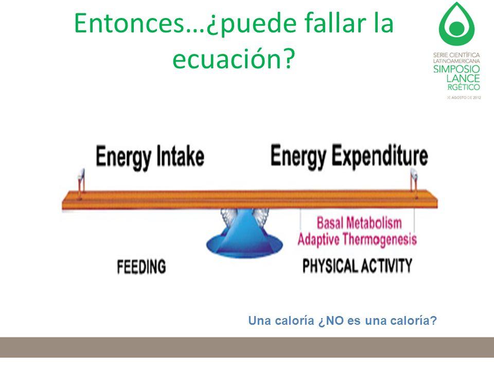 Entonces…¿puede fallar la ecuación? Una caloría ¿NO es una caloría?