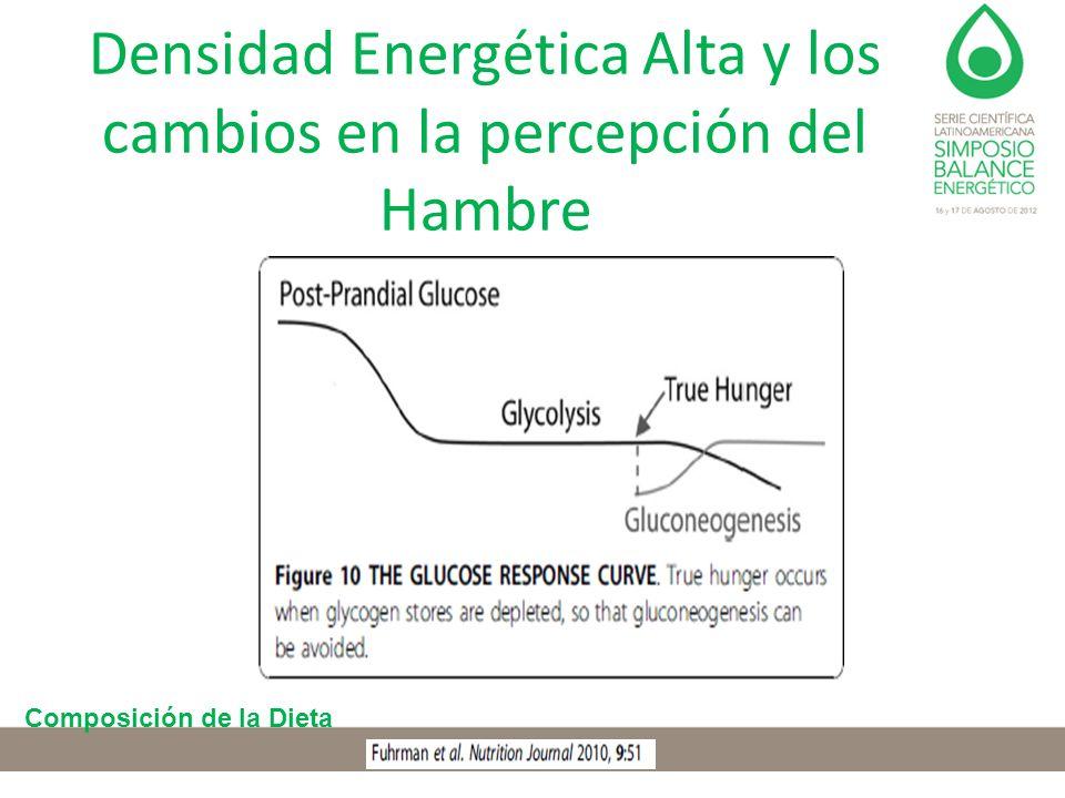 Densidad Energética Alta y los cambios en la percepción del Hambre Composición de la Dieta