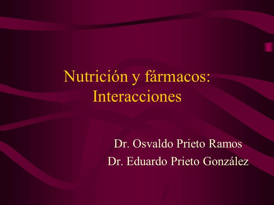Nutrición y fármacos: Interacciones Dr. Osvaldo Prieto Ramos Dr. Eduardo Prieto González