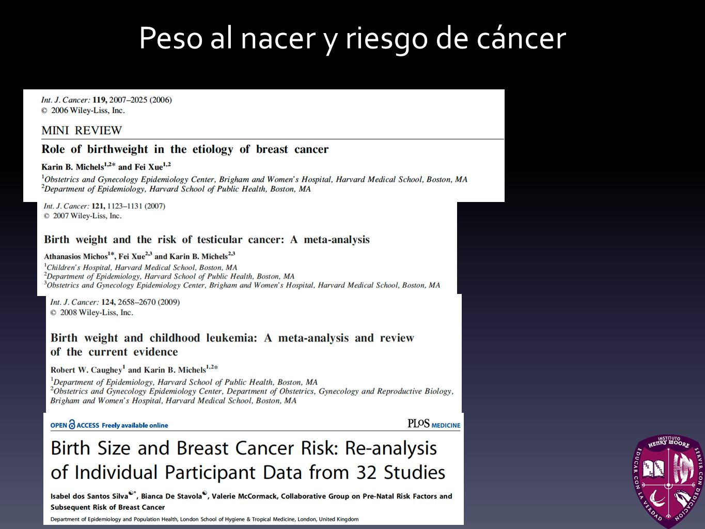 Peso al nacer y riesgo de cáncer
