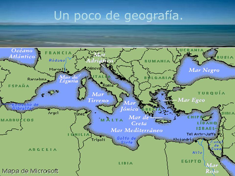 Países del Mediterráneo : Zona de olivos, vid y trigo.