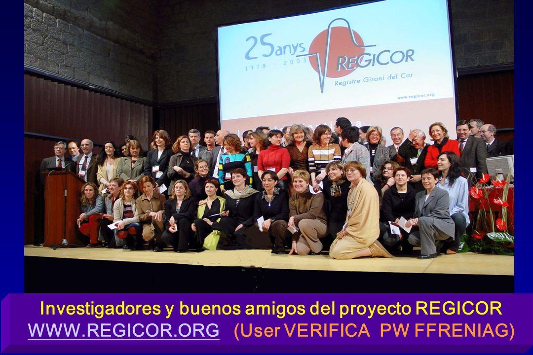 Investigadores y buenos amigos del proyecto REGICOR WWW.REGICOR.ORG (User VERIFICA PW FFRENIAG) WWW.REGICOR.ORG
