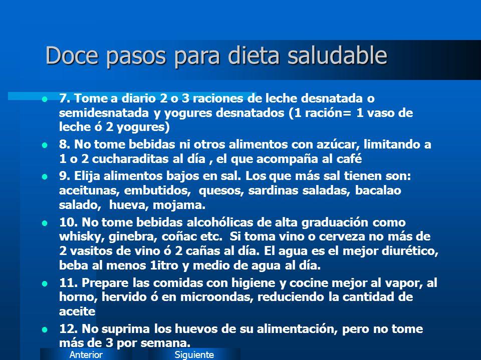 SiguienteAnterior Doce pasos para dieta saludable 7.