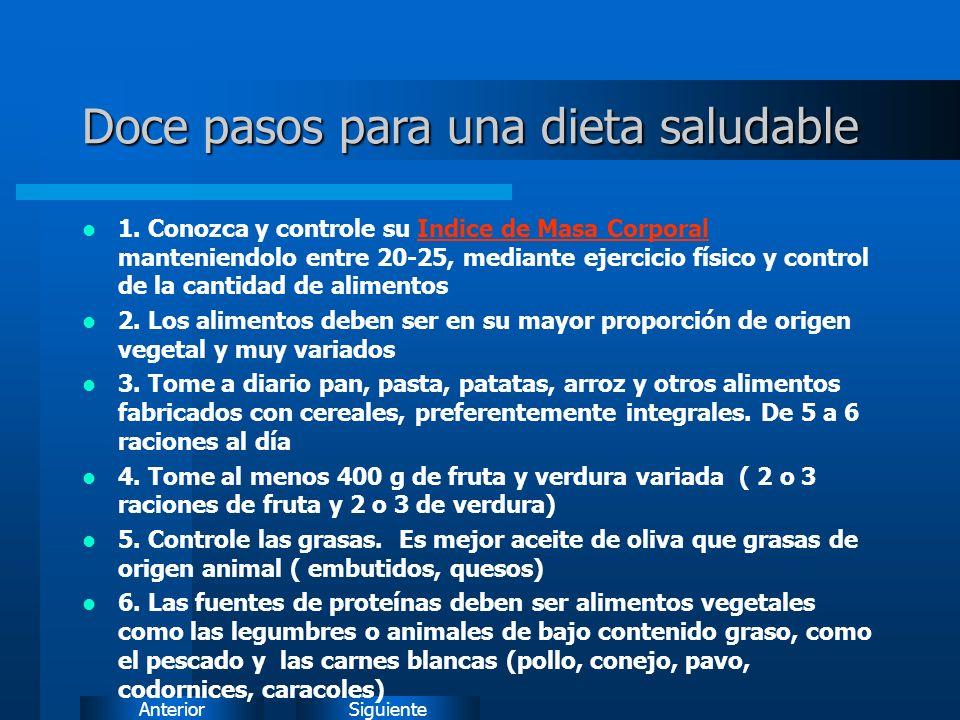 SiguienteAnterior Doce pasos para una dieta saludable 1.