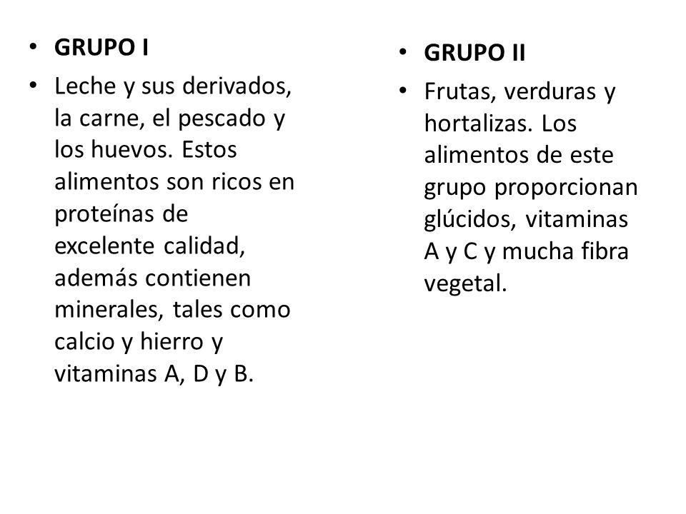 GRUPO III Granos, cereales y tubérculos.