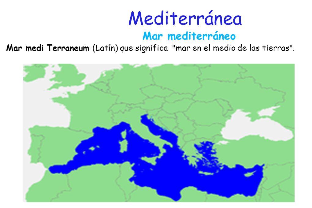 Países del mediterráneo El Mediterráneo es tanto la tierra como el mar. Argelia Túnez Argelia Túnez