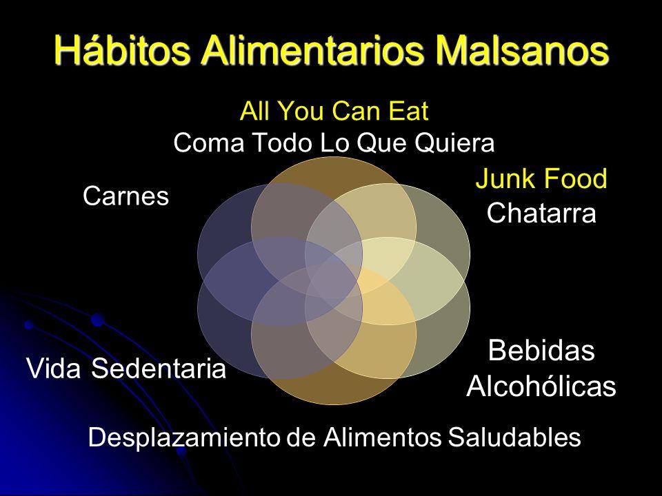 Hábitos Alimentarios Malsanos All You Can Eat Coma Todo Lo Que Quiera Junk Food Chatarra Bebidas Alcohólicas Desplazamiento de Alimentos Saludables Vi