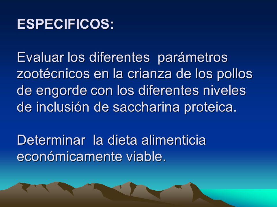 CONVERSIÓN ALIMENTICIA Análisis de variancias de las conversiones alimenticias de pollos broilers bajo el efecto de niveles de sustitución de saccharina en seis semanas de evaluación, Ñucanchi Ashpa, Gualea, Quito, Pichincha 2005.