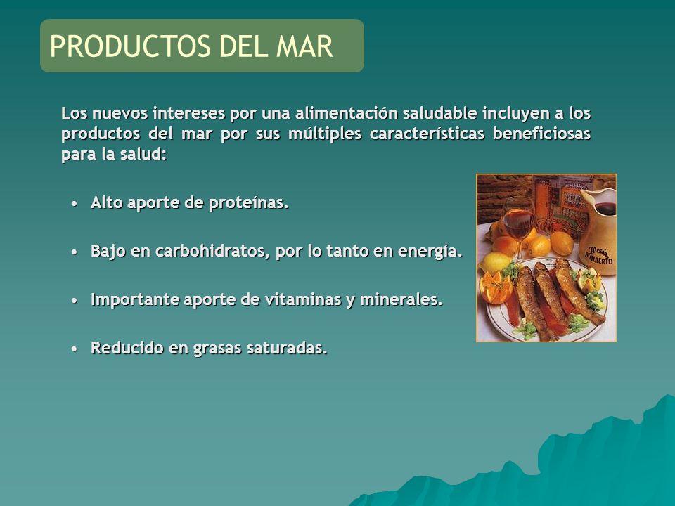 Los nuevos intereses por una alimentación saludable incluyen a los productos del mar por sus múltiples características beneficiosas para la salud: Alt