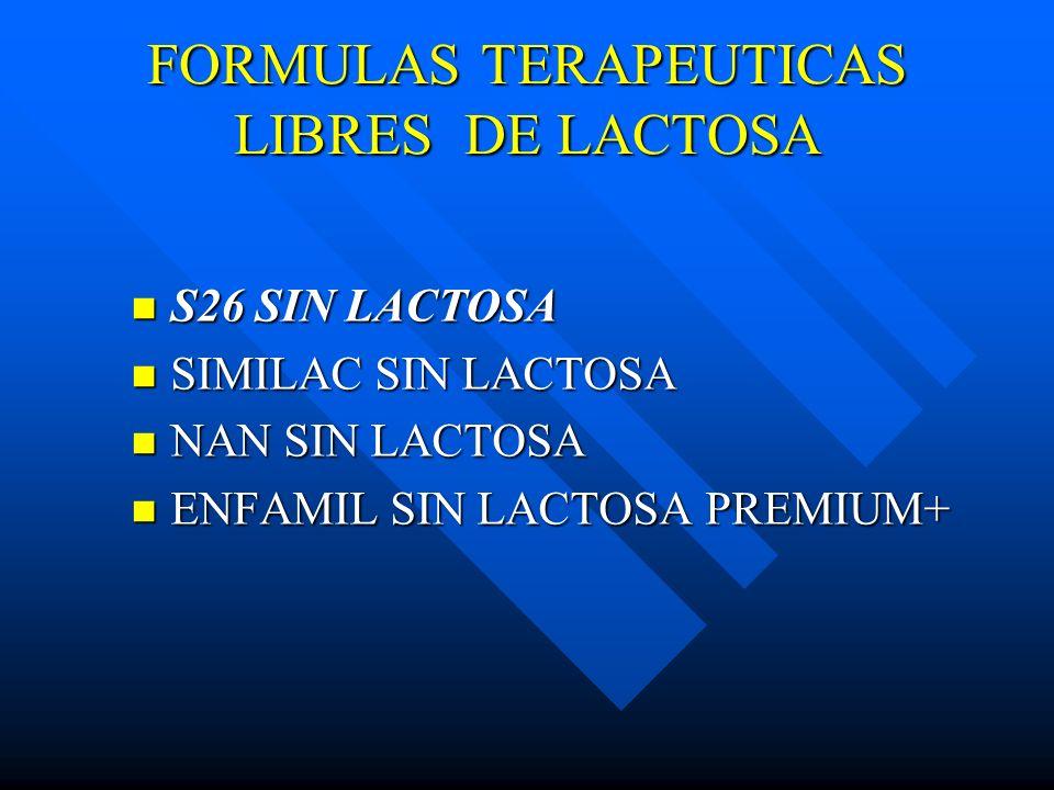 FORMULAS TERAPEUTICAS LIBRES DE LACTOSA S26 SIN LACTOSA S26 SIN LACTOSA SIMILAC SIN LACTOSA SIMILAC SIN LACTOSA NAN SIN LACTOSA NAN SIN LACTOSA ENFAMI
