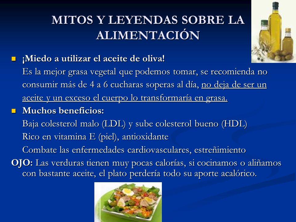 MITOS Y LEYENDAS SOBRE LA ALIMENTACIÓN Las legumbres engordan.