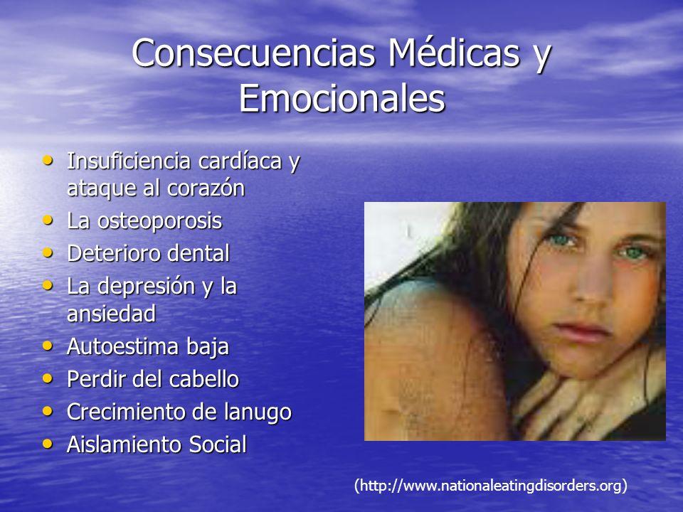 Consecuencias Médicas y Emocionales Insuficiencia cardíaca y ataque al corazón Insuficiencia cardíaca y ataque al corazón La osteoporosis La osteoporo