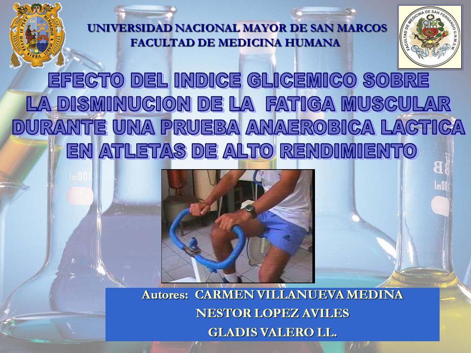 UNIVERSIDAD NACIONAL MAYOR DE SAN MARCOS FACULTAD DE MEDICINA HUMANA Autores: CARMEN VILLANUEVA MEDINA NESTOR LOPEZ AVILES GLADIS VALERO LL.