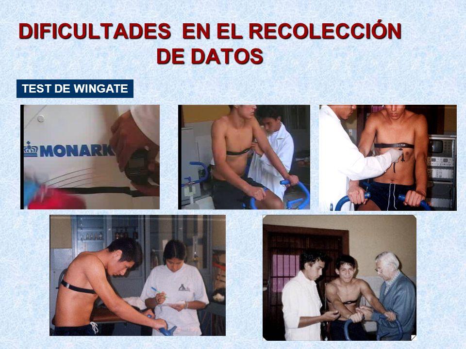DIFICULTADES EN EL RECOLECCIÓN DE DATOS TEST DE WINGATE