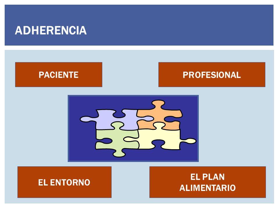 EL ENTORNO PROFESIONAL PACIENTE EL PLAN ALIMENTARIO ADHERENCIA