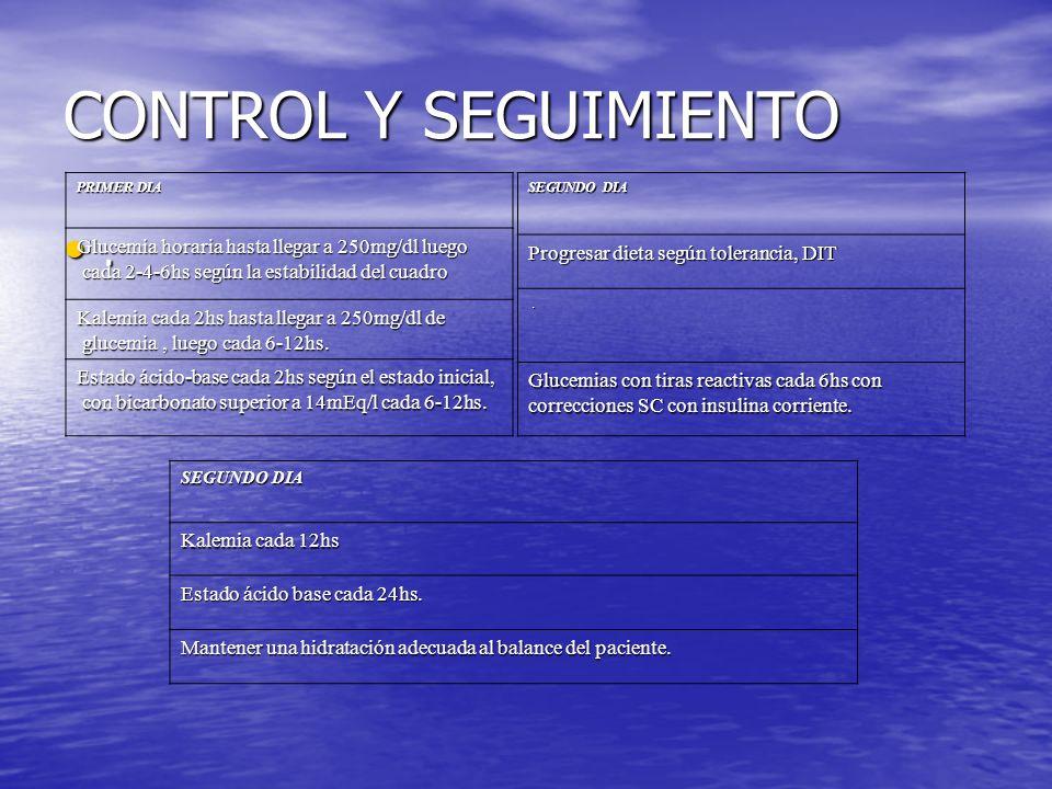 CONTROL Y SEGUIMIENTO.