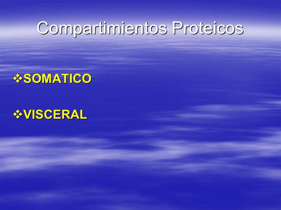 Compartimientos Proteicos SOMATICO SOMATICO VISCERAL VISCERAL