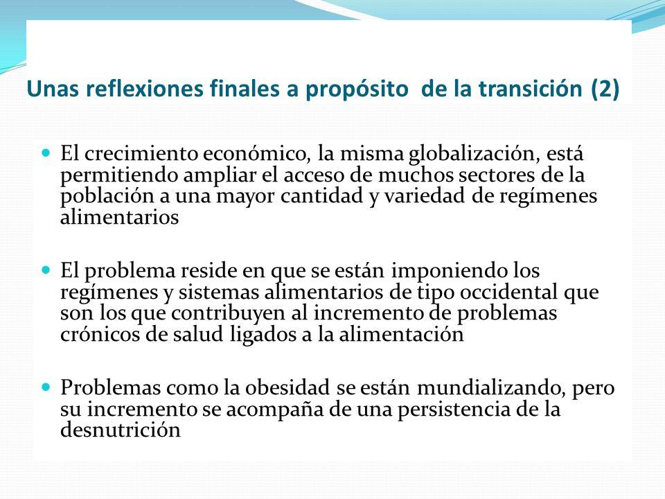 Unas reflexiones finales a propósito de la transición (2) El crecimiento económico, la misma globalización, está permitiendo ampliar el acceso de much
