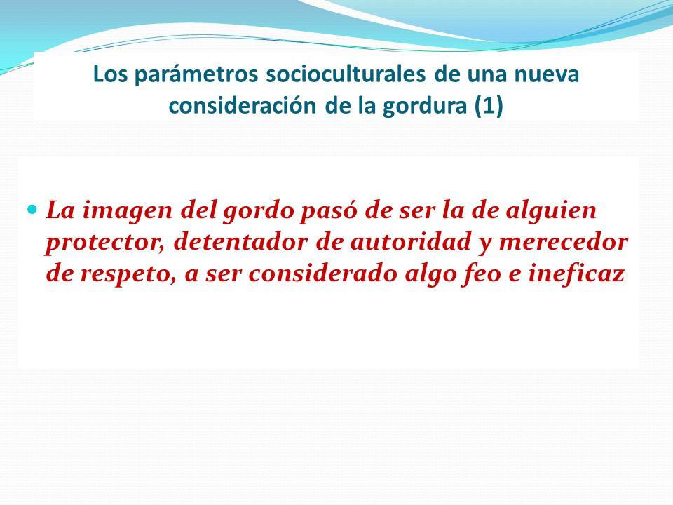 Los parámetros socioculturales de una nueva consideración de la gordura (1) La imagen del gordo pasó de ser la de alguien protector, detentador de aut
