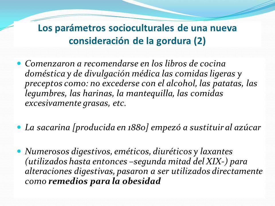 Los parámetros socioculturales de una nueva consideración de la gordura (2) Comenzaron a recomendarse en los libros de cocina doméstica y de divulgaci