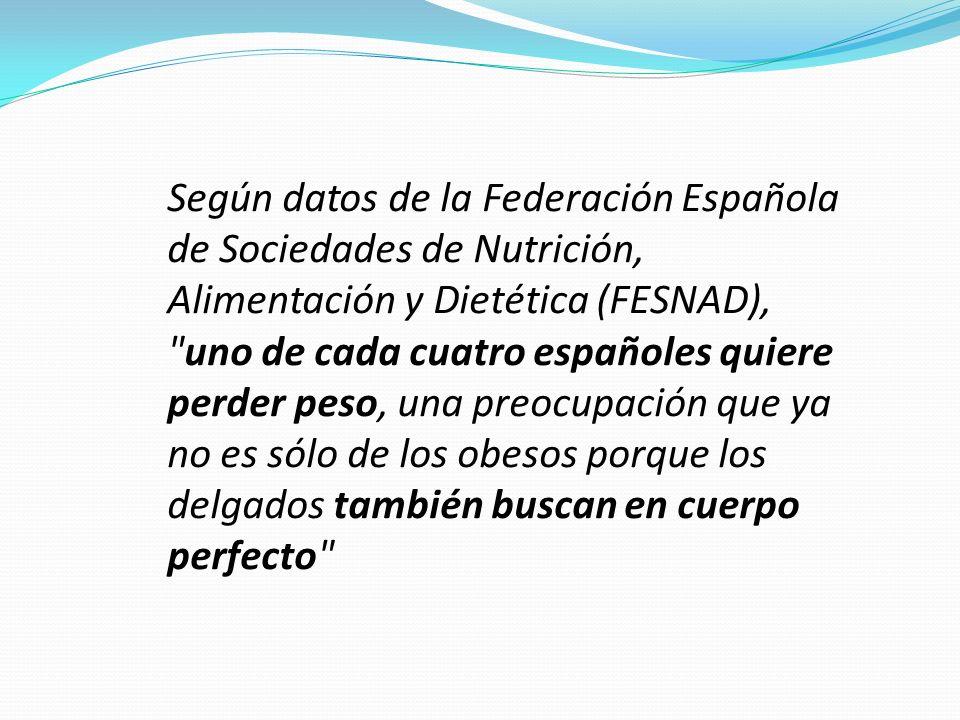 Según datos de la Federación Española de Sociedades de Nutrición, Alimentación y Dietética (FESNAD),
