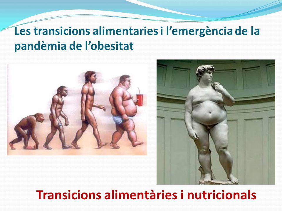 Transicions alimentàries i nutricionals Les transicions alimentaries i lemergència de la pandèmia de lobesitat