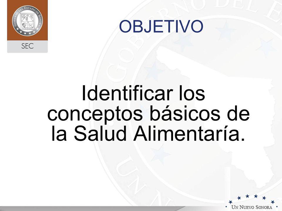 OBJETIVO Identificar los conceptos básicos de la Salud Alimentaría.