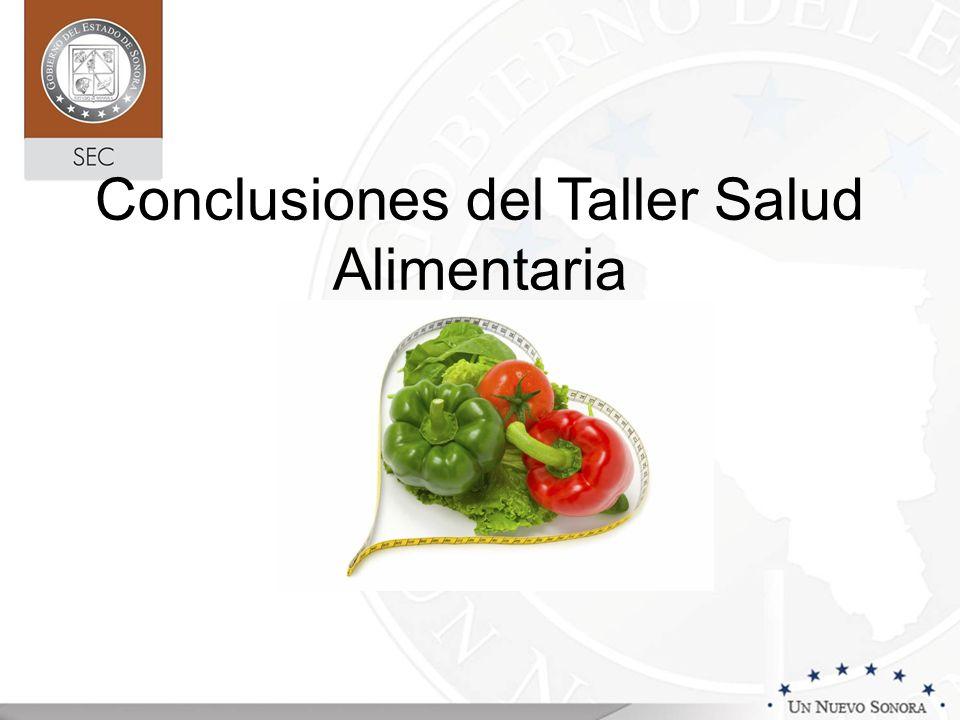 Cambio Climático Conclusiones del Taller Salud Alimentaria