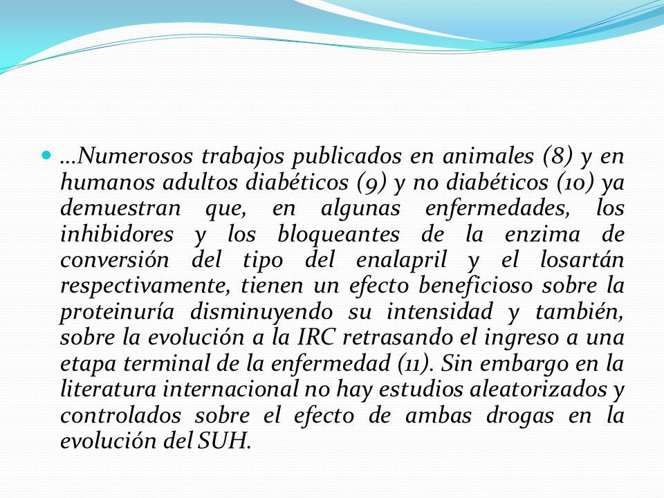 …Numerosos trabajos publicados en animales (8) y en humanos adultos diabéticos (9) y no diabéticos (10) ya demuestran que, en algunas enfermedades, lo