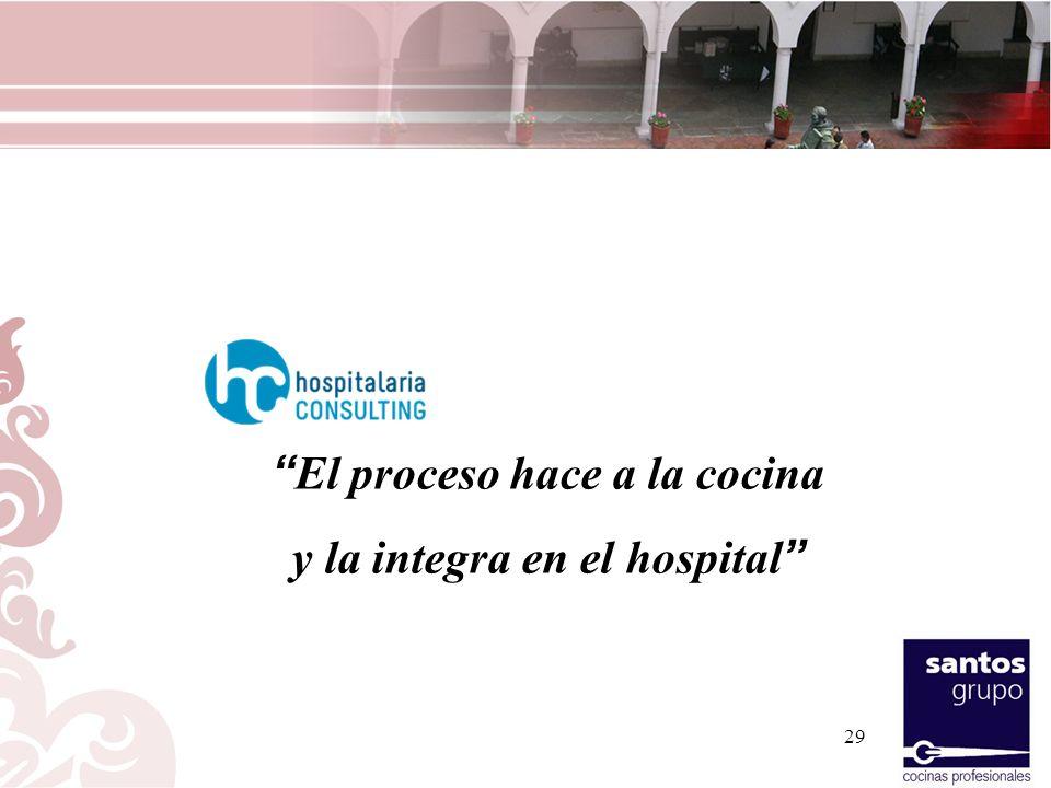 El proceso hace a la cocina y la integra en el hospital 29