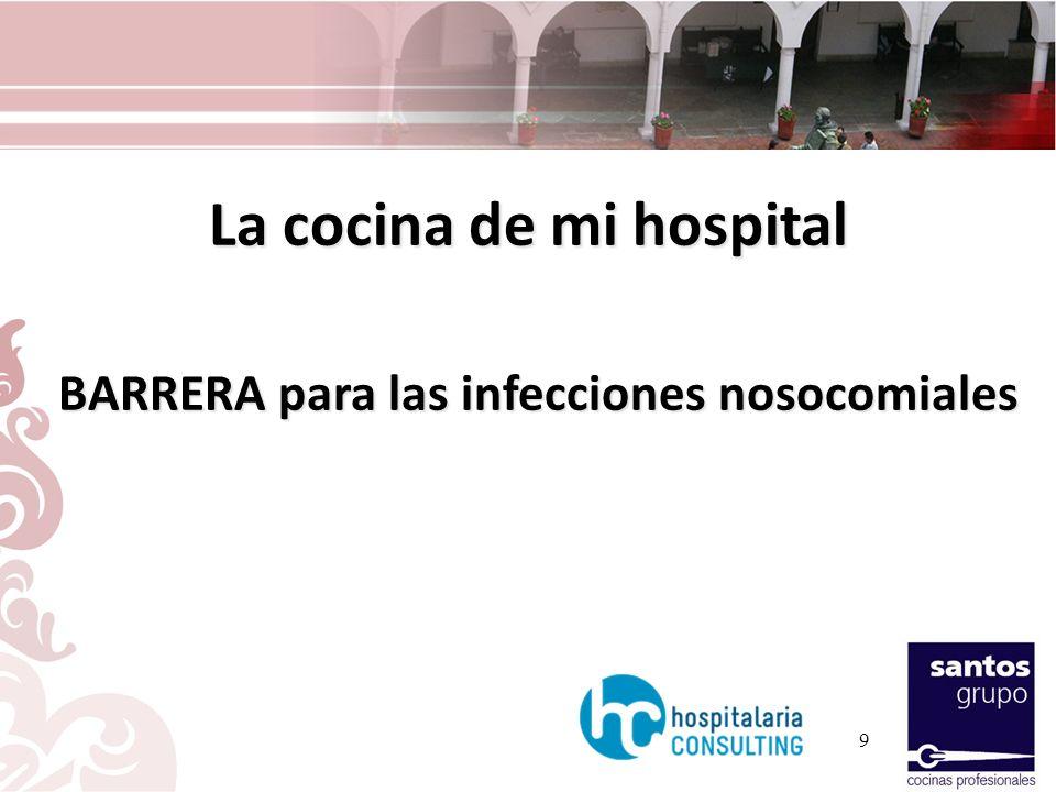 La cocina de mi hospital BARRERA para las infecciones nosocomiales BARRERA para las infecciones nosocomiales 9