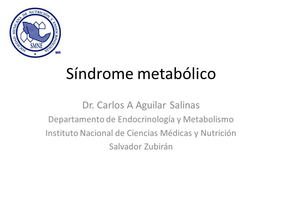 Síndrome metabólico Dr. Carlos A Aguilar Salinas Departamento de Endocrinología y Metabolismo Instituto Nacional de Ciencias Médicas y Nutrición Salva