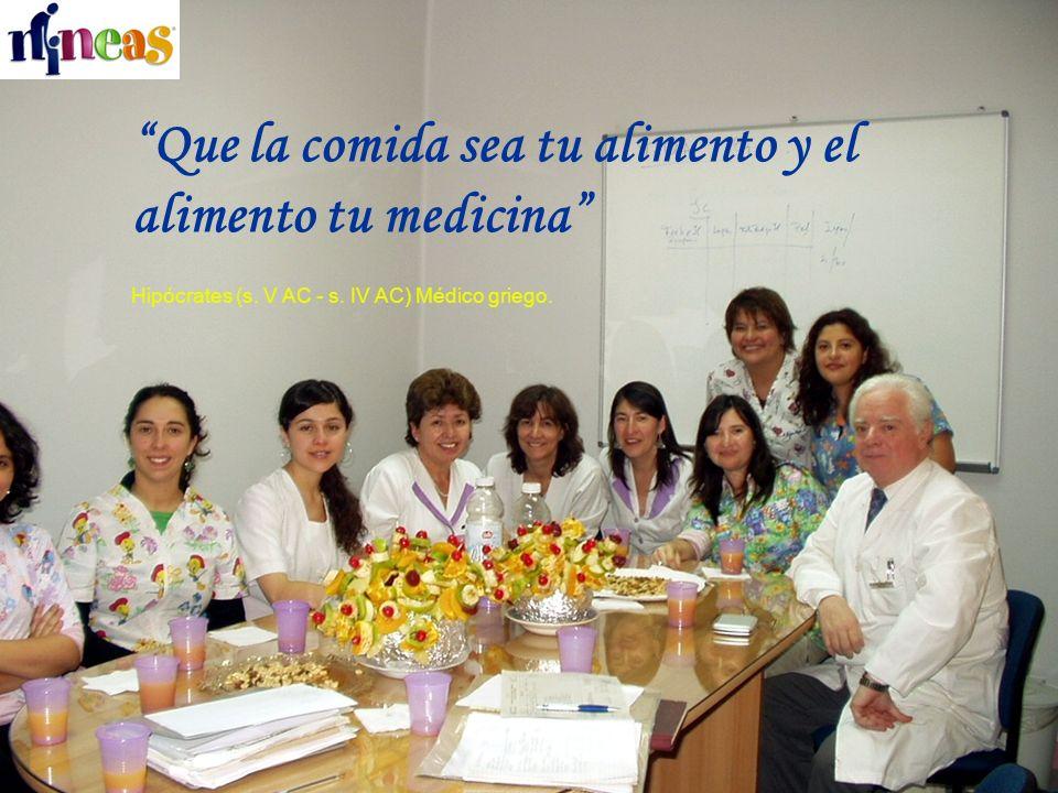 Que la comida sea tu alimento y el alimento tu medicina Hipócrates (s. V AC - s. IV AC) Médico griego.