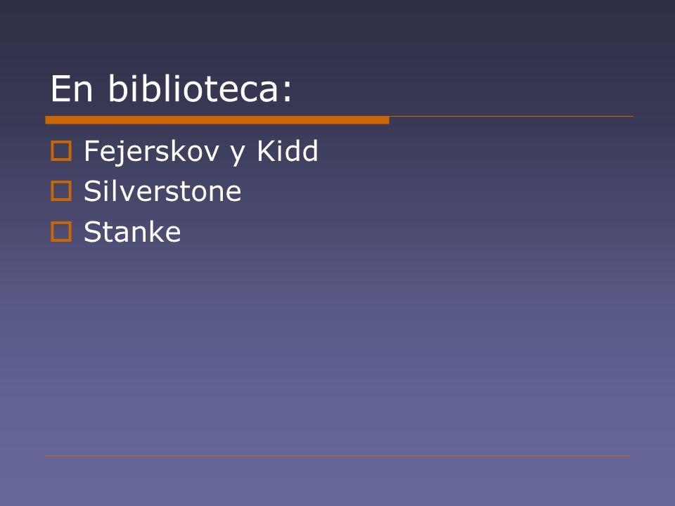 En biblioteca: Fejerskov y Kidd Silverstone Stanke