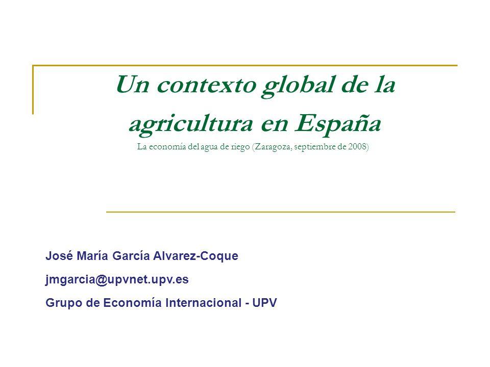 Importancia económica del regadío El regadío aporta más del 50% del valor de la Producción Vegetal.