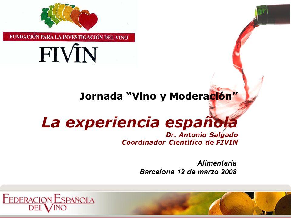 Jornada Vino y Moderación La experiencia española Dr.